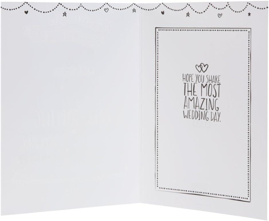 Hallmark Wedding Contemporary Platinum Gold Foil Card Medium