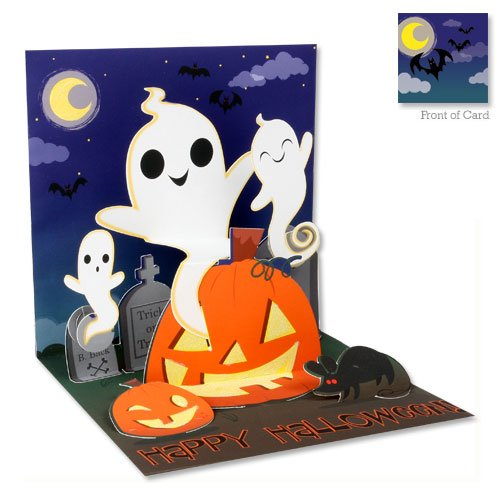 3D Greeting Card - SILLY GHOSTS - Halloween ()
