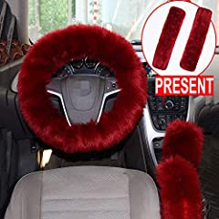 Material: faux wool. Exquisite Handfeel: Through multiple process to get a dampproof,fluffy ability. Hair Quality: Make with unique technology,wear-resisting,brightly coloured and lustrous. Package include: 1* Steering Wheel Cover 1* Handbrak...