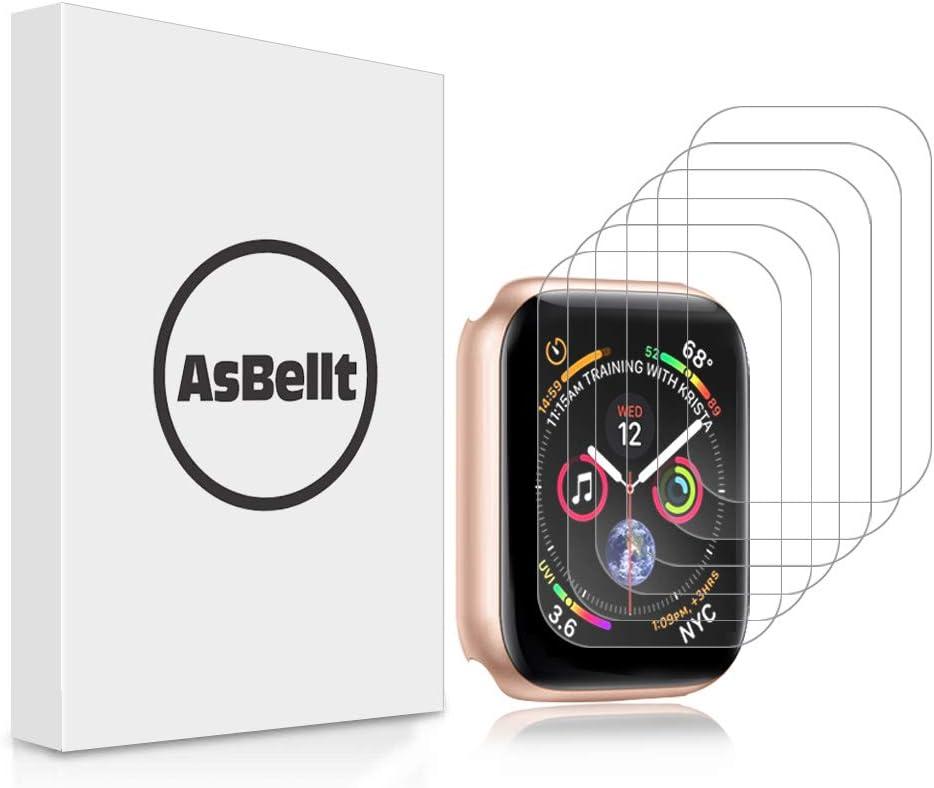 AsBellt Protector de Pantalla para Apple Watch 40mm Series 6 5 4 SE (6 Unidades) TPU Suave para iWatch 40mm Serie 6/5/4/SE Hermès, Nike+ Edition