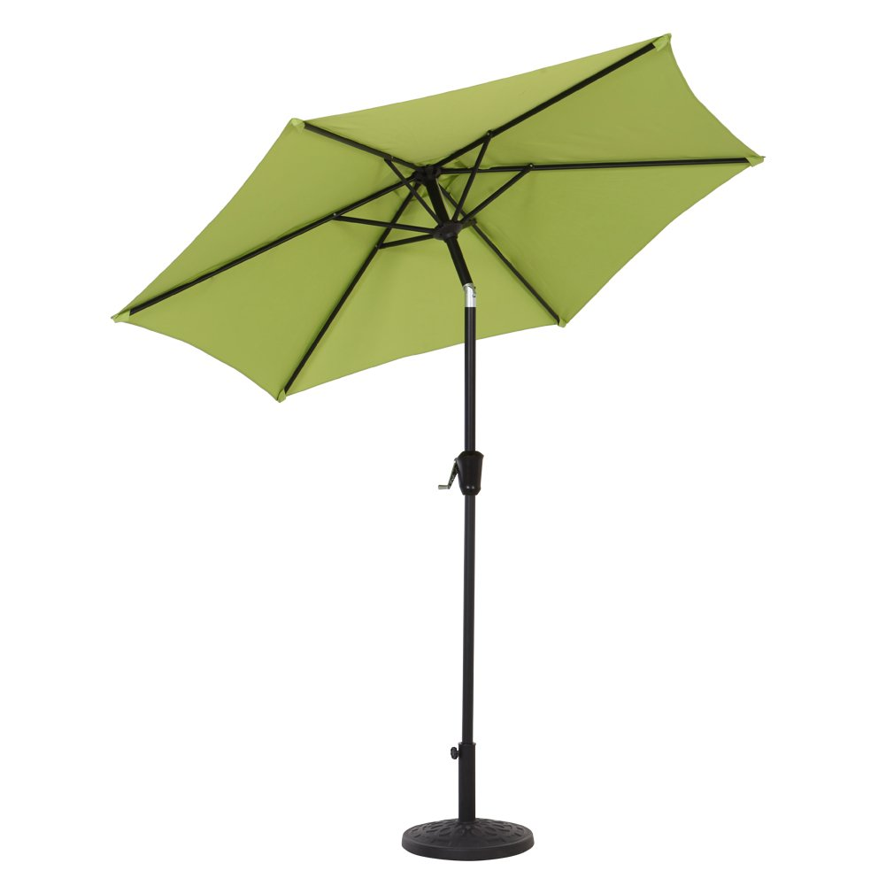 Grand patio 7.5 Ft UV Protective Outdoor Market Umbrella with Push Button Tilt and Crank, with Wind Vent