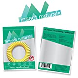 InsectNaturals Insect Repelling Wristband Box of 10: DEET Free Assorted Colors Safe Natural Protection