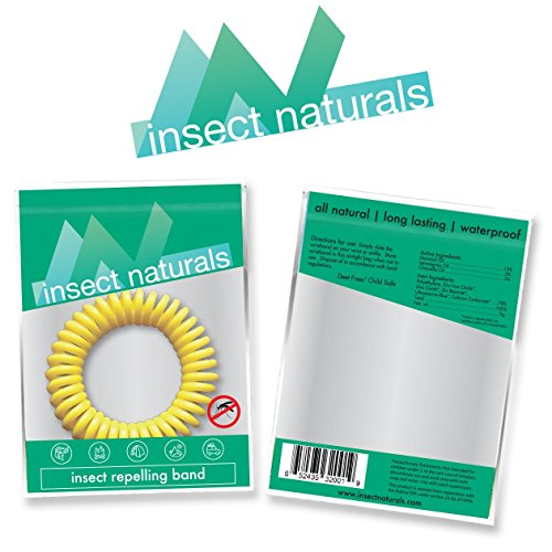 InsectNaturals Insect Repelling Wristband Box of 10: DEET Free Assorted Colors Safe Natural Protection by Evergreen Research & Marketing, LLC