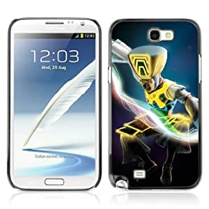 Designer Depo Hard Protection Case for Samsung Galaxy Note 2 N7100 / Jumping Warrior