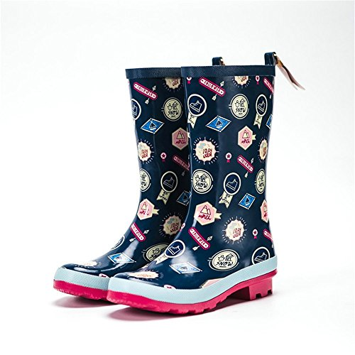 Stivali Stivali da più più da da Pioggia Dimensioni Gomma Stivali Autunno Donna Stivali Sicurezza di Pioggia Yzibei da Antiscivolo Donna in e Inverno xfXqZ4Zw