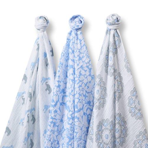 SwaddleDesigns SwaddleLite Marquisette Swaddle Blankets