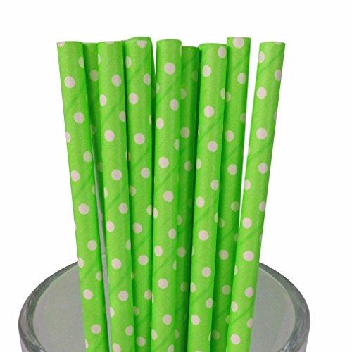 Green Swiss Dot - Free DHL 500 pcs White Swiss Dot Neon Color Lime Green Paper Straws Bulk, Fluorescent Green Small Polka Dot Paper Drinking Straws for Holiday Party, Wedding, Birthday, Mason Jar Straws