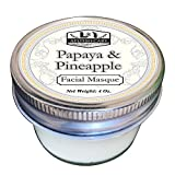 Cheap Papaya & Pineapple Facial Masque, Organic Ingredients, Loaded with enzymes, Mild gel exfoliating masque, gentle and help reveal, soft, rejuvenated skin (4 Oz, Papaya & Pineapple Facial Masque)