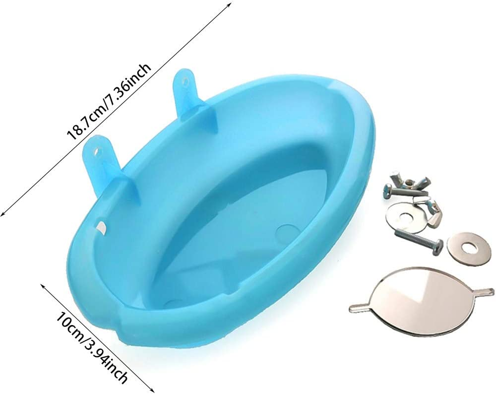 para loros Ba/ñera para p/ájaros jaula de loro para ducha loro y p/ájaros ba/ñera ba/ñera cuenco para colgar piscina accesorios con espejo p/ájaros ba/ñera ba/ñera WiFndTu