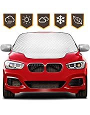 2021 Newest Kekilo Car Windshield Sun Cover Windscreen Frost Cover Snow Magnetic Cover Windshield Sun Protector Waterproof Dust Cover and Ice Protector in All Weather Car Cover with Two Mirror Covers (L)