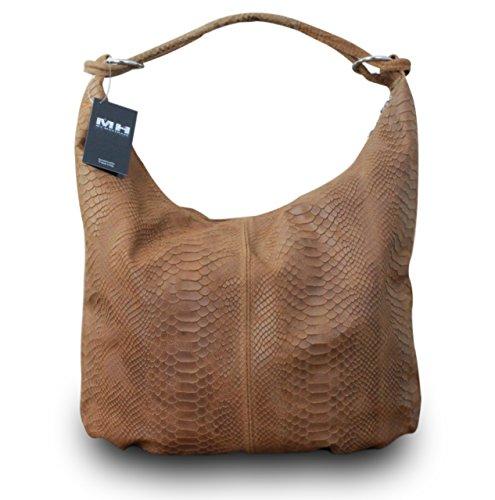 My-Musthave - Bolso de tela para mujer Marrón marrón medium marrón