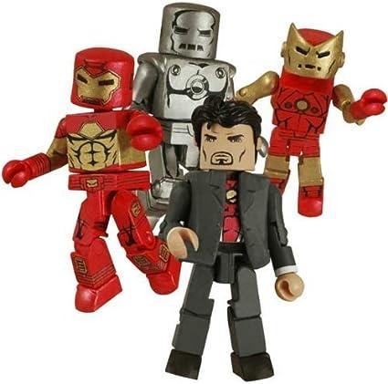 SDCC 2008 Exclusive Iron Man Through The Ages minimates DIAMOND SELECT