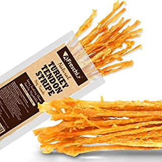AFreschi Turkey Tendon Twists for Dogs, Premium All-Natural, Hypoallergenic Dog Chew Treat, Easy to Digest, Alternative to Rawhide, Ingredient Sourced from USA. Pack of 3 oz