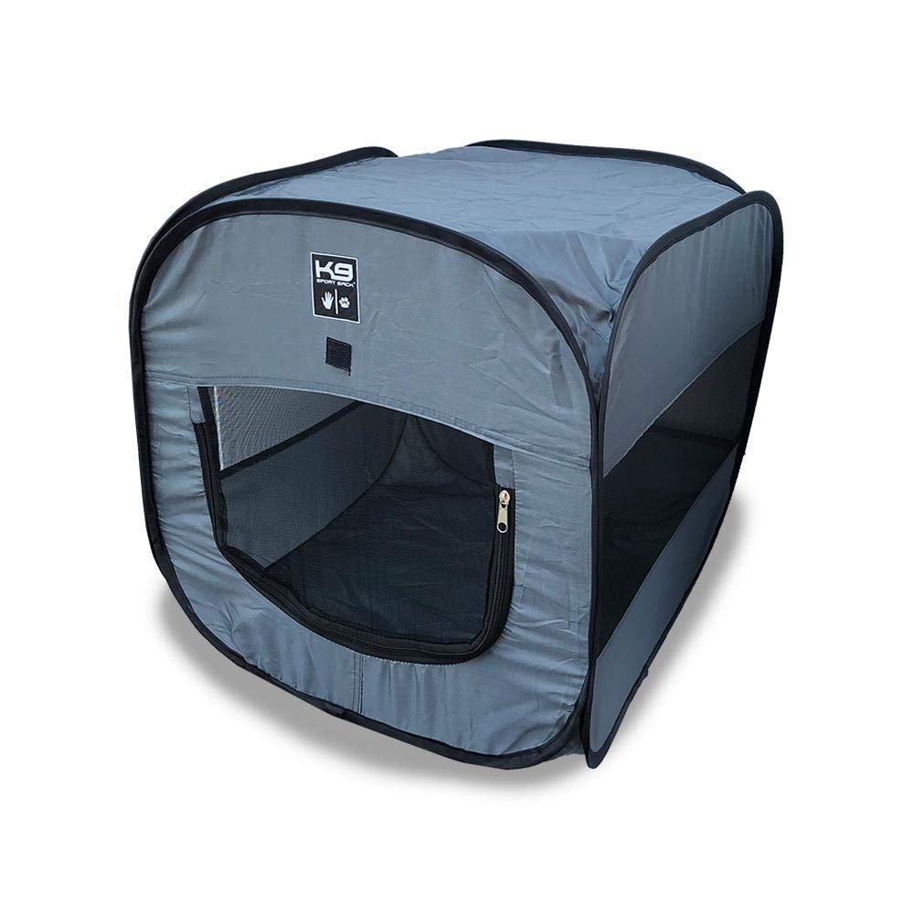 K9 Sport Sack | Indoor & Outdoor Pop-up Travel Dog Tent | Portable Dog House for Camping & Hiking with Carry Bag (20'' L x 20'' W x 20'' H)