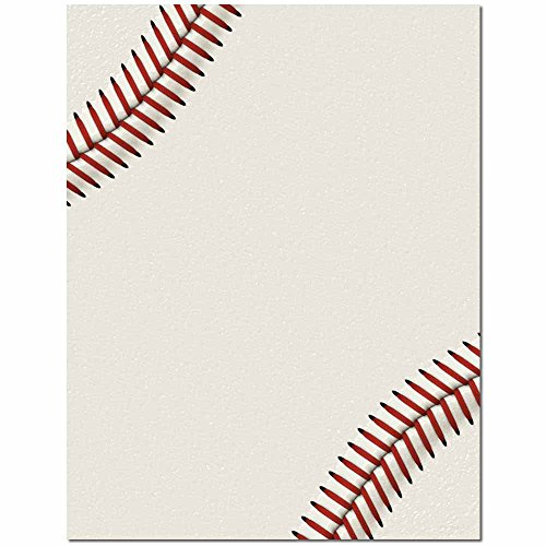 Baseball Letterhead Laser & Inkjet Printer Paper, 100 pack