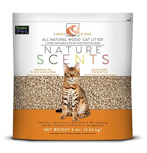 Premier-Pet-Products Arena para Gatos con Aroma a Naturaleza, Color Cedro