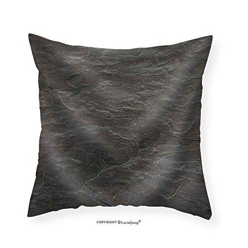 VROSELV Custom Cotton Linen Pillowcase Flat Background Texture of Slate Floor Tile - Fabric Home Decor (Indian Autumn Slate Tile)