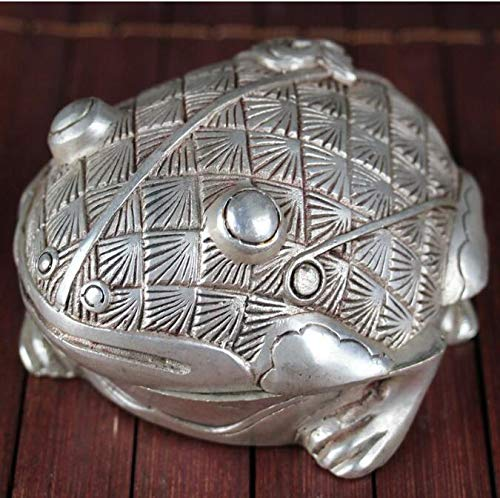 Statues & Sculptures - Silver Incense Burner Antique Incense Burner Bronze Frog Statue Toad Household Decorations - by GTIN - 1 Pcs - Asian Frog Statue