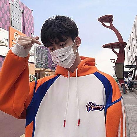 LMHWYAI Hong Kong Estilo Chaqueta de Manga Larga para Hombre Hip-Hop suéter Chaqueta de