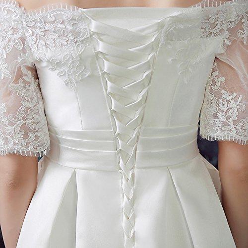 Vimans Damen A-Linie Kleid elfenbeinfarben 9COLxga