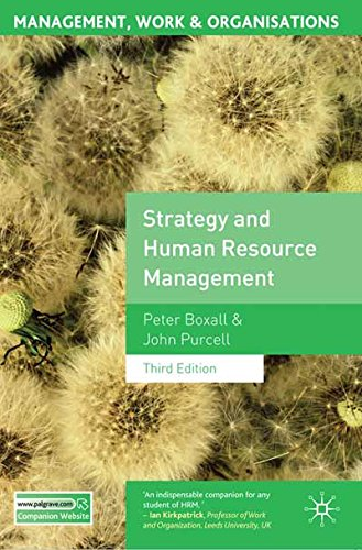 Strategy and Human Resource Management: Third Edition (Management, Work and Organisations)