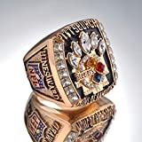 AJZYX 2005 Pittsburgh Steelers Super Bowl Championship Replica Ring Collectible Souvenir Size 10