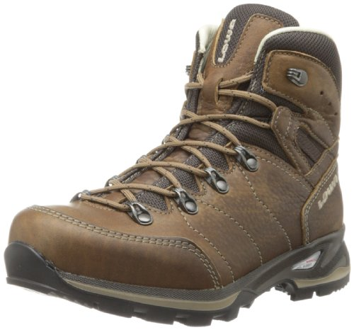 Lowa Women's Hudson Leather Lined Mid Hiking Boot,Taupe,7.5 M US by LOWA Boots