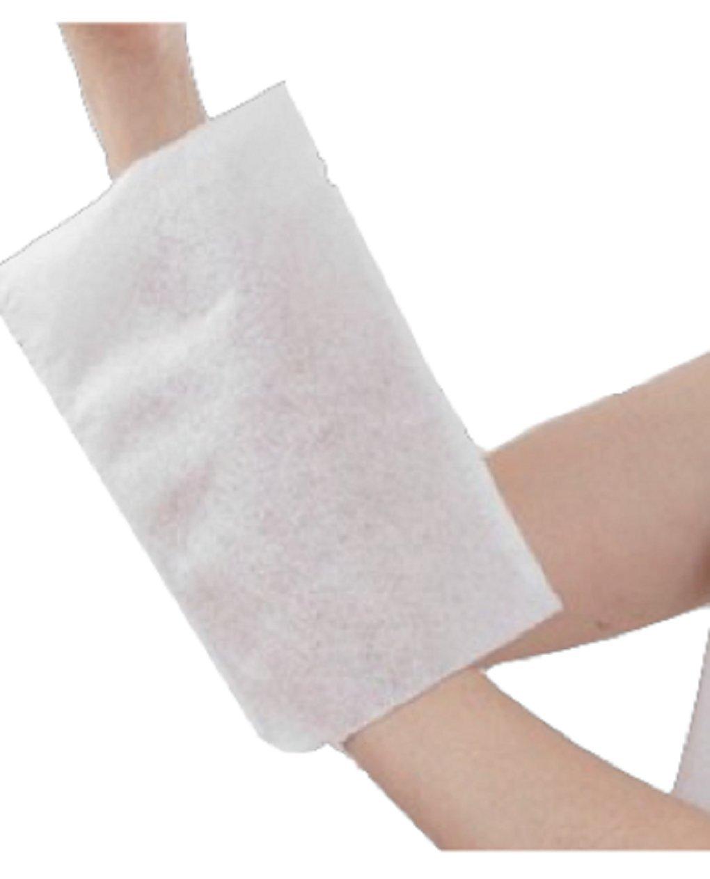 Guanto da bagno, per uso unico Sterilizzabile Non tessuto felpato, 75 g/m², 230 x 160 mm, lotto di 3 confezioni da 50 dac