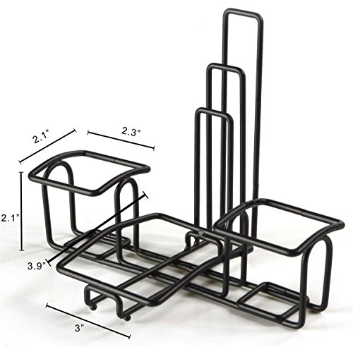 Condiment Caddy Stands with Menu Holders, Wire Organizers for Condiments, Steel (Black) - Set of 10 by Displays2go (Image #2)