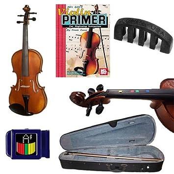 ... acústico - Violín (tamaño 1/10) W/Pickup eléctrica, dedo Marcadores, violín primer libro, sintonizador y silencio: Amazon.es: Instrumentos musicales