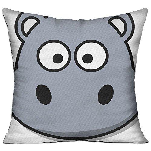 Gray Hippopotamus Wild Cozy Sofa Pillow 18in X 18in (Including Pillow Inside) (Hippopotamus Sofa)