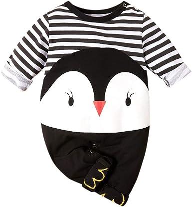 Niños Bebe Mono Lindo Pingüino Niña Pijama de Algodón Fino de ...