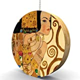 Gustav Klimt Expectations Detail Hardwood Oak Fan / Light Pull