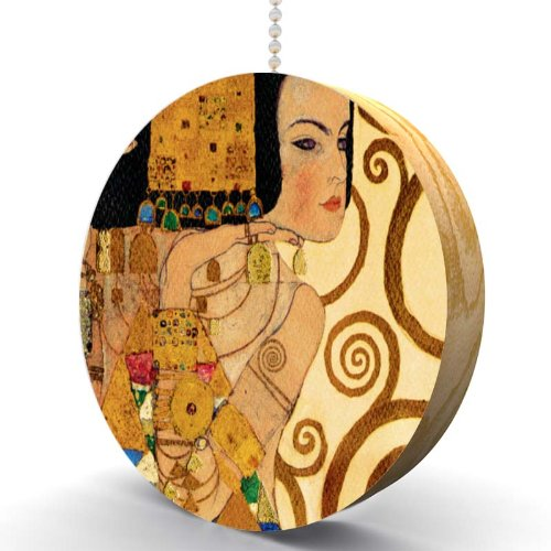 Gustav Klimt Expectations Detail Hardwood Oak Fan / Light ()