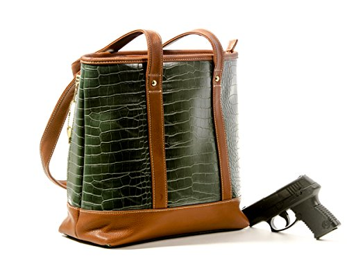 Goson Premium Crocodile Embossed PU Faux Leather Concealed Carry Purse Tote