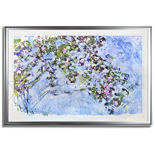 Monet Wall Art Collection The The Rose Bush, 1925 Fine Giclee Prints Wall Art In Premium Quality Framed Ready to Hang 24X34, -