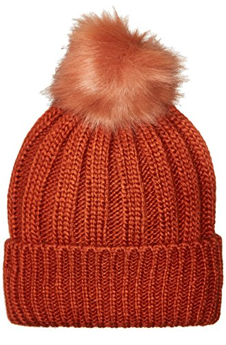French Connection Women's Pom Beanie, Copper Coin, (Copper Connection)