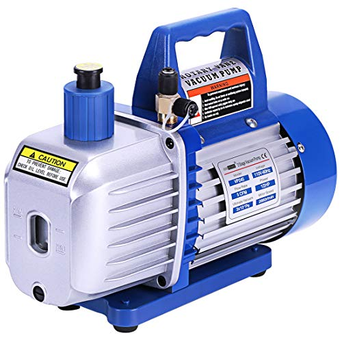 (VIVOHOME 110V 1/2 HP 5 CFM Dual Stage Rotary Vane Air Vacuum Pump with Oil Bottle)