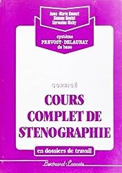 Corrige steno en dossiers trav.(rose) (French Edition)