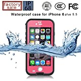 Redpepper-Waterproof Case for iPhone 6 Plus 5.5 inch Screen SnowPrrof ShockProof DirtProof Case Cover (Pink)