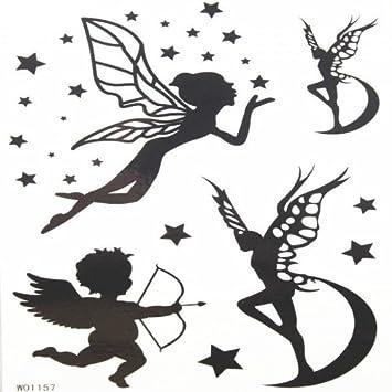 Bebe Ange Et Papillon Ange Autocollants De Tatouage Avec Etoile Et