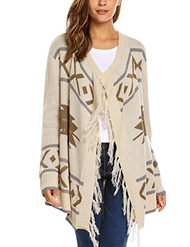 Soteer Womens Basic Open Front Knit Cardigan Sweater Top (Knit Cardigan Sweater Top)