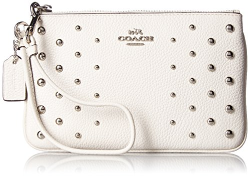 COACH Women's Ombre Rivets Small Wristlet Sv/Chalk One Size