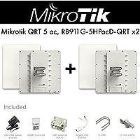 Mikrotik QRT 5 ac 5GHz 24dBi Outdoor Flat Panel Antenna PoE Gigabit -2PACK