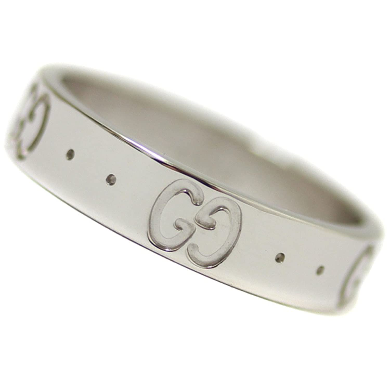 GUCCI(グッチ) GG アイコンリング K18WG 750 約7.5号 指輪 ホワイトゴールド [新品仕上げ済み][中古] B07BCYC9TP