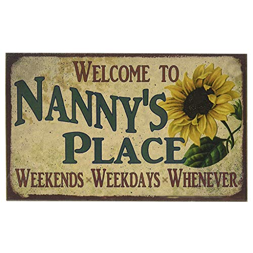 (NANNY'S PLACE Metal Signage, 12