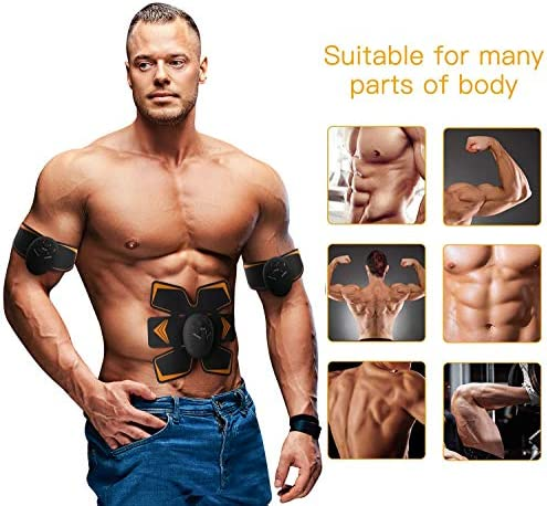 Antmona Abs Stimulator, Muscle Toner - Abs Stimulating Belt- Abdominal Toner- Training Device for Muscles- Wireless Portable to-Go Gym Device- Muscle Sculpting at Home- Fitness Equipment, Black 3