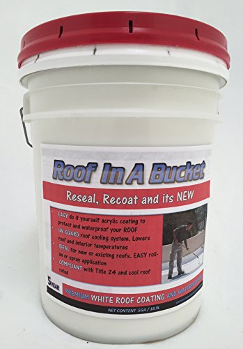 Roof In A Bucket - 5ga White Elastomeric Roof Coating