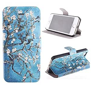 ZL Rattan Flower Pattern PU Full Body Case with Card Slot and Stand for iPhone 5/5S