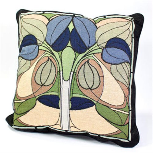 Rennie & Rose Collection 18-Inch Stuffed Pillow, Art Nouveau Floral Window